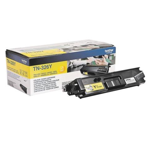 Картридж лазерный BROTHER (TN326Y) HL-L8250CDN/<wbr/>MFC-L8650CDW, желтый, оригинальный, ресурс 4000 стр.