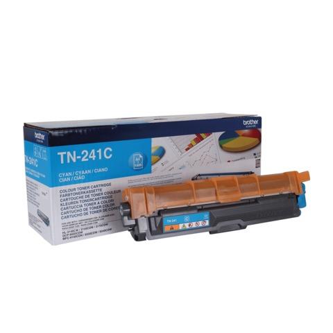 Картридж лазерный BROTHER (TN241C) HL-3140CW/<wbr/>DCP-9020CDW/<wbr/>MFC-9140CDN и другие, голубой, оригинальный, ресурс 1400 стр.