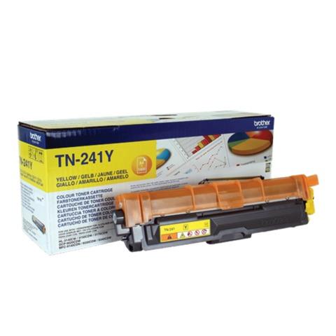 Картридж лазерный BROTHER (TN241Y) HL-3140CW/<wbr/>DCP-9020CDW/<wbr/>MFC-9140CDN и другие, желтый, оригинальный, ресурс 1400 стр.