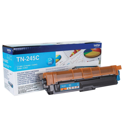 Картридж лазерный BROTHER (TN245C) HL-3140CW/DCP-9020CDW/MFC-9140CDN и другие, голубой, оригинальный, ресурс 2200 стр.