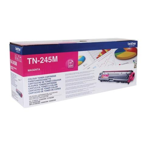 Картридж лазерный BROTHER (TN245M) HL-3140CW/<wbr/>DCP-9020CDW/<wbr/>MFC-9140CDN и другие, пурпурный, оригинальный, ресурс 2200 стр.