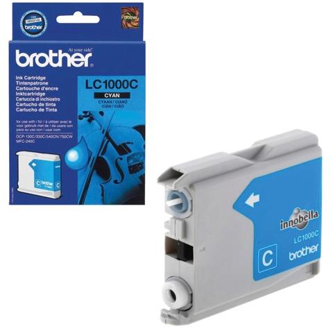 Картридж струйный BROTHER (LC1000C) DCP-130C/<wbr/>770CW/<wbr/>MFC-240C/<wbr/>680CN и др, голубой, оригинальный, ресурс 400 стр.