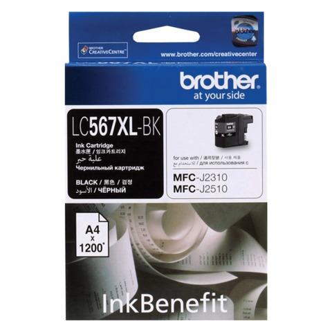 Картридж струйный BROTHER (LC567XLBK) MFC-J2310/<wbr/>J2510, черный, оригинальный, ресурс 1200 стр.