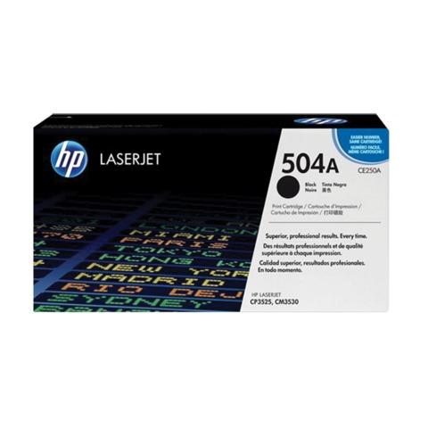 Картридж лазерный HP (CE250A) ColorLaserJet CP3525/<wbr/>CM3530, черный, оригинальный, ресурс 5000 стр.