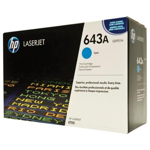 Картридж лазерный HP (Q5951A) ColorLaserJet 4700, голубой, оригинальный, ресурс 10000 стр.