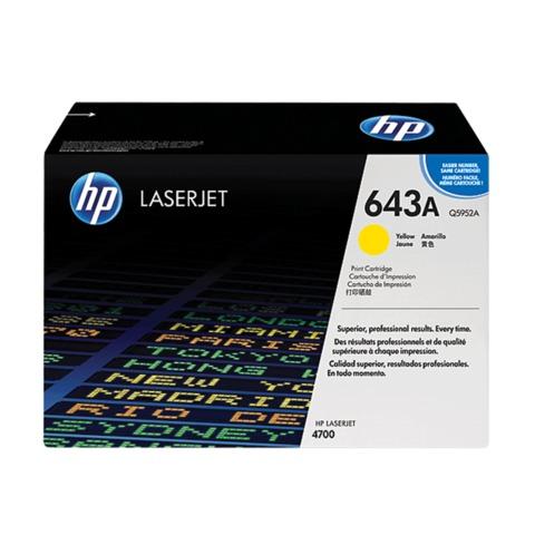 Картридж лазерный HP (Q5952A) ColorLaserJet 4700, желтый, оригинальный, ресурс 10000 стр.