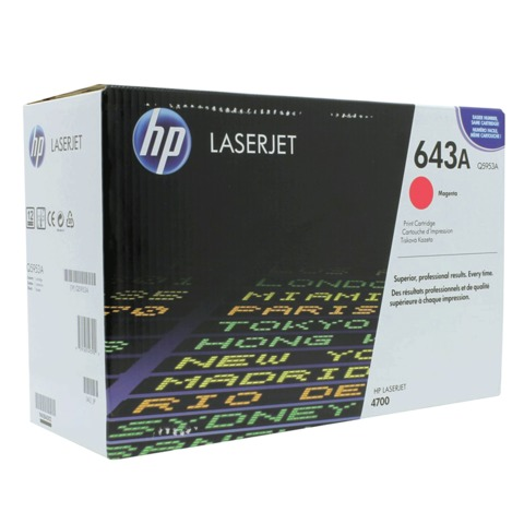 Картридж лазерный HP (Q5953A) ColorLaserJet 4700, пурпурный, оригинальный, ресурс 10000 стр.