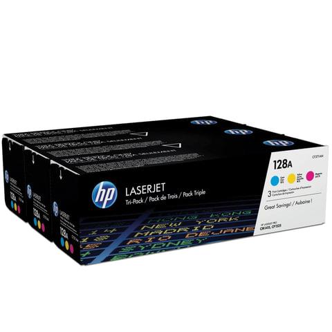 Картридж лазерный HP (CF371AM) LaserJet Pro CM1415/<wbr/>CP1525, комплект 3 цвета CMY, ресурс 3*1300 стр.