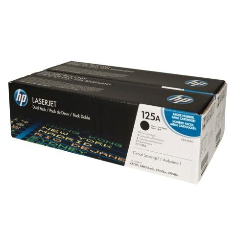 Картридж лазерный HP (CB540AD) ColorLJ CP1215/CP1515N/CM1312, черный, комплект 2 шт., оригинальный, ресурс 2х2200 стр.