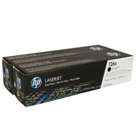 Картридж лазерный HP (CE310AD) LaserJet CP1025/CP1025NW, черный, комплект 2 шт., оригинальный, ресурс 2*1200 стр.