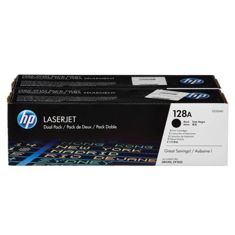 Картридж лазерный HP (CE320AD) LaserJet CM1415FNW/<wbr/>CP1525NW, черный, комплект 2 шт., оригинальный, ресурс 2*2000 стр.