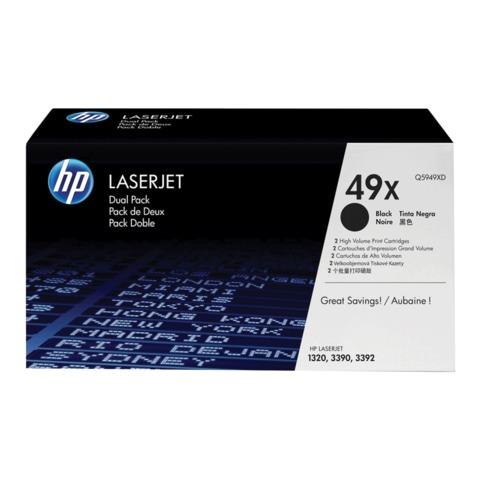 Картридж лазерный HP (Q5949XD) LaserJet 1320/<wbr/>3390/<wbr/>3392 и др., №49X, комплект 2шт., оригинальный, ресурс 2*6000 стр.