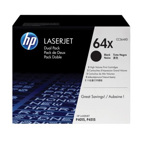 Картридж лазерный HP (CC364XD) LaserJet P4015/<wbr/>P4515, №64Х, комплект 2 шт., оригинальный, ресурс 2×24000 стр.