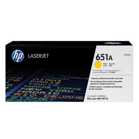 Картридж лазерный HP (CE342A) LaserJet Enterprise 700 M775dn/<wbr/>f/z, желтый, оригинальный, ресурс 16000 стр.