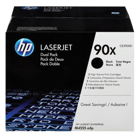 Картридж лазерный HP (CE390XD) LaserJet M602n/M603n и другие, №90X, комплект 2 шт, оригинальный, ресурс 2*24000 стр.