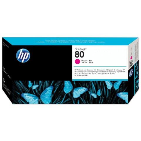 Головка печатающая для плоттера HP (C4822A) DesignJet 1050c/<wbr/>c plus/<wbr/>1055 и другие, №80, пурпурная, оригинальная