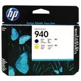 Головка печатающая для плоттера HP (C4900A) OfficeJet Pro 8000/<wbr/>8500, №940, черная и желтая, оригинальная