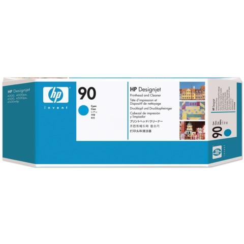 Головка печатающая для плоттера HP (C5055A) DesignJet 4000/<wbr/>4020/<wbr/>4500/<wbr/>4520, №90, голубая, оригинальная
