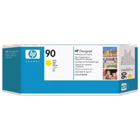 Головка печатающая для плоттера HP (C5057A) DesignJet 4000/<wbr/>4020/<wbr/>4500/<wbr/>4520, №90, желтая, оригинальная