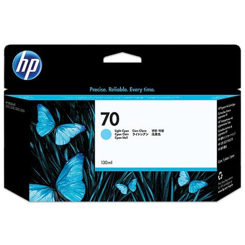 Картридж струйный HP (C9390A) DesignJet Z2100/<wbr/>Z5200/<wbr/>Z3200, №70, светло-голубой, оригинальный