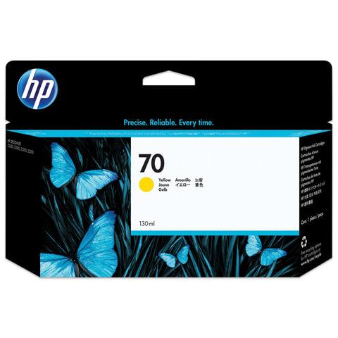 Картридж струйный HP (C9454A) DesignJet Z2100/<wbr/>Z5200/<wbr/>Z5400, №70, желтый, оригинальный