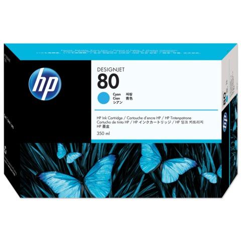 Картридж струйный HP (C4846A) DesignJet 1050C/<wbr/>1055CM, №80, голубой, оригинальный