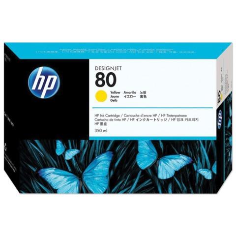 Картридж струйный HP (C4848A) DesignJet 1050C/<wbr/>1055CM, №80, желтый, оригинальный