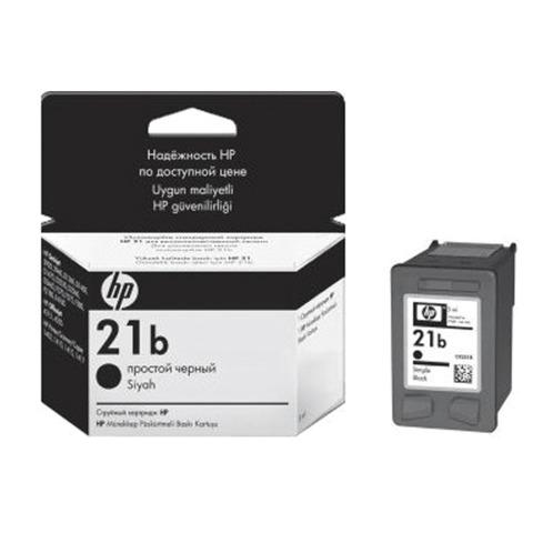 Картридж струйный HP (C9351BE) DeskJet D1360/<wbr/>1460/<wbr/>2460/<wbr/>1560 и др., №21b, черный, оригинальный, ресурс 190 стр.