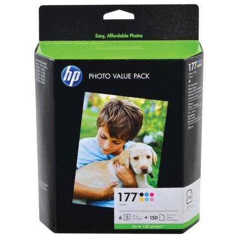 Картридж струйный HP (Q7967HE) голубой, пурпурный, желтый, черный, св-голубой, св-пурпурный+фотобумага для PS8253/<wbr/>3213/<wbr/>6283, ориг.