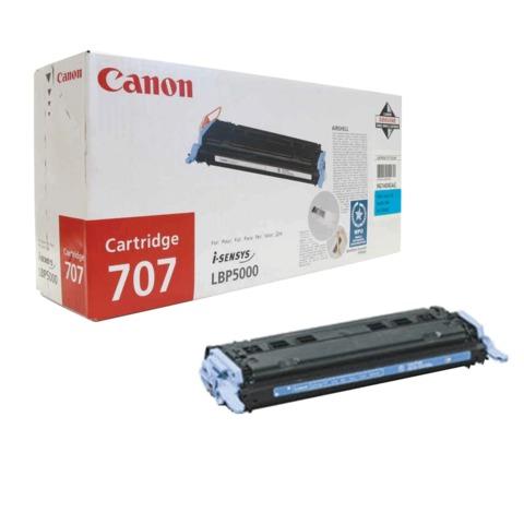 Картридж лазерный CANON (707C) LBP5000/5100, голубой, оригинальный, ресурс 2000 стр.