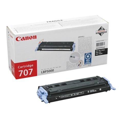Картридж лазерный CANON (707BK) LBP5000/<wbr/>5100, черный, оригинальный, ресурс 2500 стр.