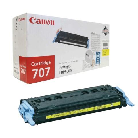 Картридж лазерный CANON (707Y) LBP5000/<wbr/>5100, желтый, оригинальный, ресурс 2000 стр.
