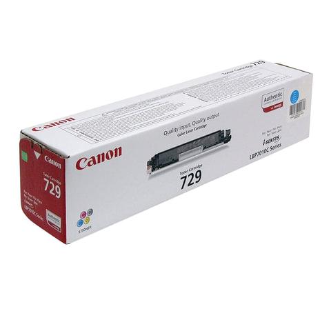 Картридж лазерный CANON (729C) LBP7010C/<wbr/>7018C, голубой, оригинальный, ресурс 1000 стр.