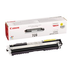 Картридж лазерный CANON (729Y) LBP7010C/<wbr/>7018C, желтый, оригинальный, ресурс 1000 стр.