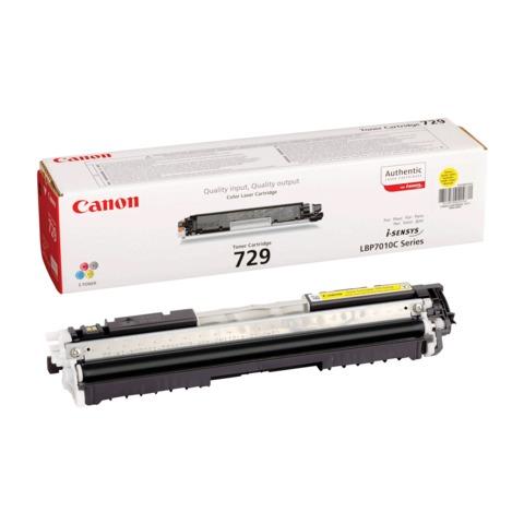 Картридж лазерный CANON (729Y) LBP7010C/7018C, желтый, оригинальный, ресурс 1000 стр.