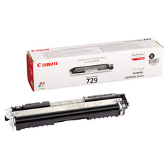 Картридж лазерный CANON (729BK) LBP7010C/<wbr/>7018C, черный, оригинальный, ресурс 1200 стр.