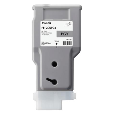 Картридж струйный CANON (PFI-206PGY) iPF6400/6450, серый, оригинальный, 300 мл