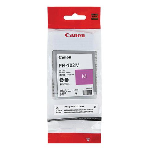 Картридж струйный CANON (PFI-102M) iPF500/510/F600/605/610/650/655/700/710/720, пурпурный, оригинальный, 130 мл