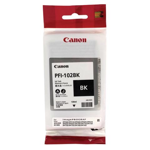Картридж струйный CANON (PFI-102BK) iPF500/<wbr/>510/<wbr/>F600/<wbr/>605/<wbr/>610/<wbr/>650/<wbr/>655/<wbr/>700/<wbr/>710/<wbr/>720, черный, оригинальный, 130 мл