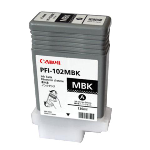 Картридж струйный CANON (PFI-102МBK) iPF500/<wbr/>510/<wbr/>F600/<wbr/>605/<wbr/>610/<wbr/>650/<wbr/>655/<wbr/>700, матовый, черный, оригинальный, 130 мл