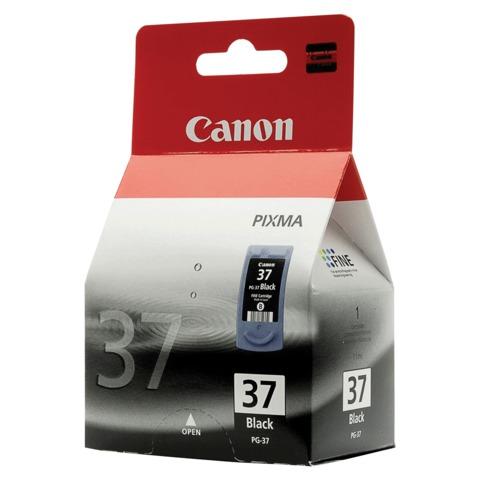 Картридж струйный CANON (PG-37) PIXMA MP210/<wbr/>220/<wbr/>310/<wbr/>300/<wbr/>140/<wbr/>190/<wbr/>iP1800/<wbr/>2500/<wbr/>2600, черный, оригинальный, 220 стр.