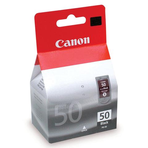 Картридж струйный CANON (PG-50) PIXMA MP150/<wbr/>170/<wbr/>450/<wbr/>160/<wbr/>460/<wbr/>JX200/<wbr/>500, черный, оригинальный, увеличенный, 520 стр.