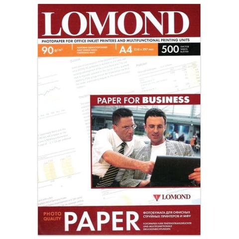Фотобумага LOMOND для струйной печати, A4, 90 г/<wbr/>м<sup>2</sup>, 500 л., односторонняя, матовая, 0102131