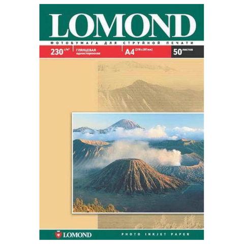 Фотобумага LOMOND для струйной печати, A3, 230 г/<wbr/>м<sup>2</sup>, 50 л., односторонняя, глянцевая, 0102025