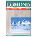 Фотобумага LOMOND для струйной печати, А4, 215 г/<wbr/>м<sup>2</sup>, 25 л., односторонняя, глянцевая