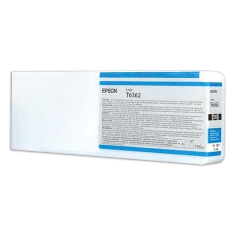 Картридж струйный для плоттера EPSON (C13T636200) Stylus Pro 7890 и другие, голубой, оригинальный, увеличенной емкости, 700 мл