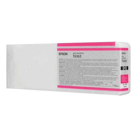 Картридж струйный для плоттера EPSON (C13T636300) Stylus Pro 7890 и другие, пурпурный, оригинальный, увеличенной емкости, 700 мл