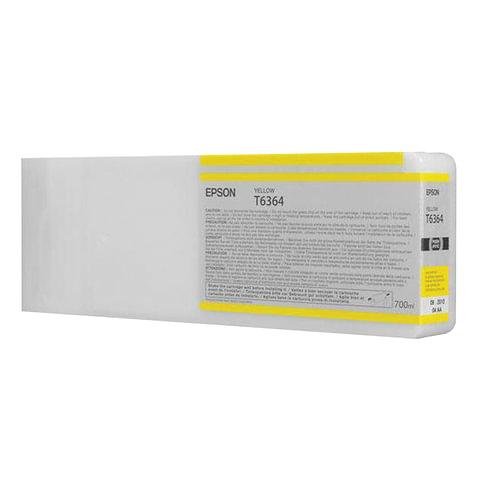 Картридж струйный для плоттера EPSON (C13T636400) Stylus Pro 7890 и другие, желтый, оригинальный, увеличенной емкости, 700 мл