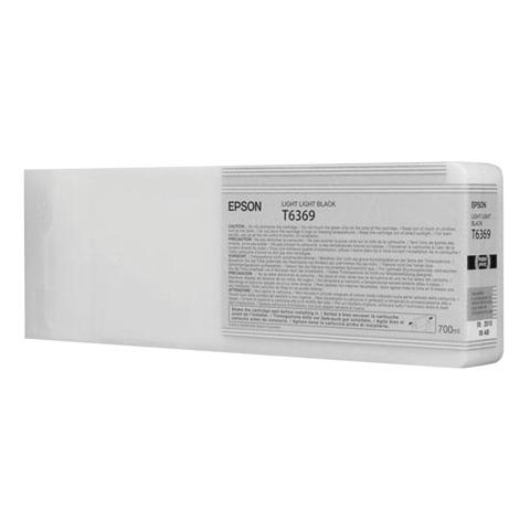 Картридж струйный для плоттера EPSON (C13T636900) Stylus Pro 7890 и другие, светло-серый, оригинальный, увеличенной емкости 700 мл