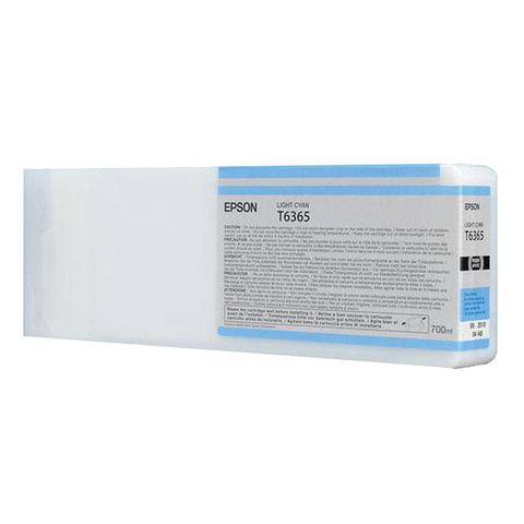 Картридж струйный для плоттера EPSON (C13T636500) Stylus Pro 7890 и другие, светло-голубой, оригинальный, увелич. емк., 700 мл